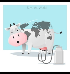 Global ecology concept Save the world before its vector