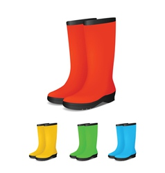 Gumboots colour vector