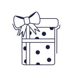 happy birthday dotted gift box decoration vector image