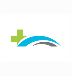 health insurance logo template with cross vector image