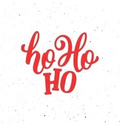 Ho-Ho-Ho Christmas greeting card vector