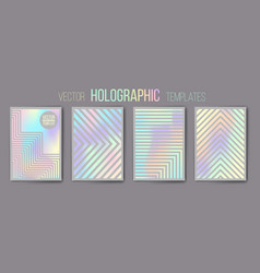 holographic templates shiny mat vector image