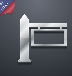 Information Road Sign icon symbol 3D style Trendy vector
