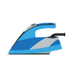 Iron electric ironing home clothes laundry flat vector