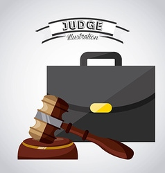 judge concept vector image