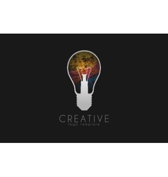 Lightbulb logo Idea logo Creative logo Bulb vector image