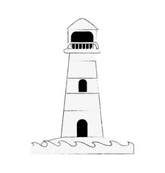 lighthouse navigation symbol vector image