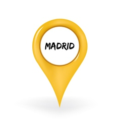 Location Madrid vector image