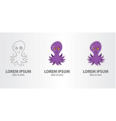 logo volet octopus vector image