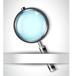 magnifying glass and paper vector image vector image
