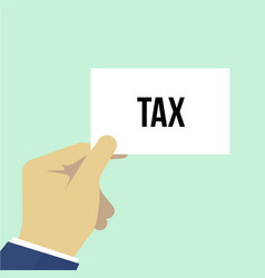 man showing paper tax text vector image