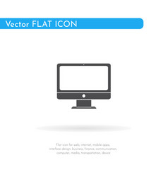 Monitor icon for web business finance and vector