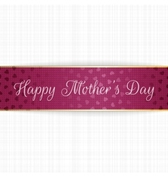 Mothers Day realistic greeting bend Banner vector image
