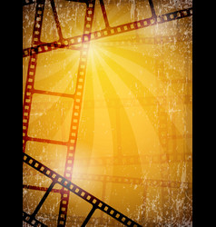 Movie background film frames tape reels camera vector