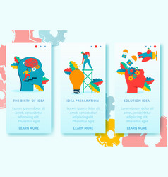 neurology character banners set vector image