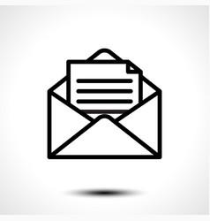 open envelope for letter vector image