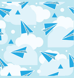 Paper planes seamless pattern abstract background vector