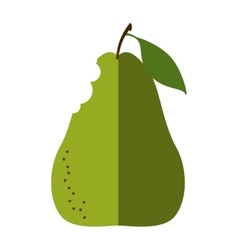 pear fresh fruit isolated icon vector image