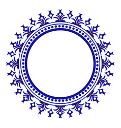 porcelain decorative round frame vector image