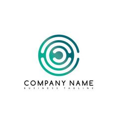 Round circle logo logotype brand template art vector