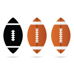rugby ball set vector image