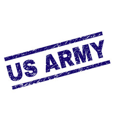 Scratched textured us army stamp seal vector