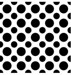 Seamless black and white polka dot pattern - vector