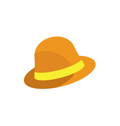 simple traveler hat vector image