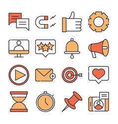 social media digital internet network communicate vector image