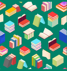 stack of color books background pattern isometric vector image