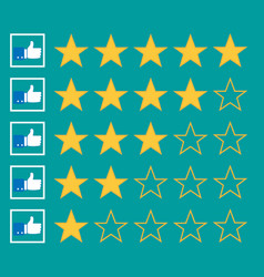 Stars rating vector