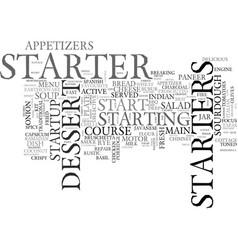 Starter word cloud concept vector