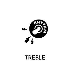 Treble flat icon vector