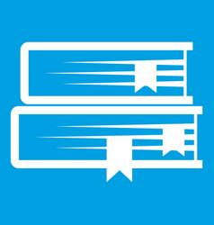 Two books icon white vector