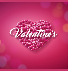 valentines day design with heart and typography on vector image