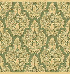 volumetric damask seamless pattern vector image vector image
