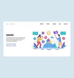 web site design template ecology vector image