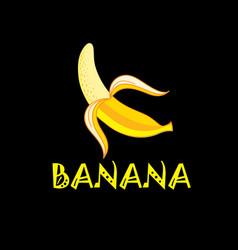 yellow banana vector image