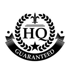 High quality retro label vector image
