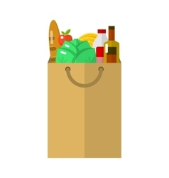 Paper package flat icon vector image