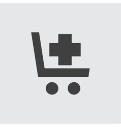 Shopping cart with cross icon vector image vector image