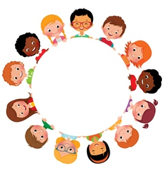 Children of friends of the world vector image vector image