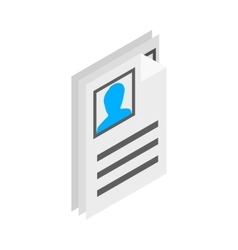 Identification card icon isometric 3d style vector image vector image