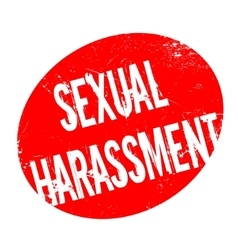 Sexual Harassment rubber stamp vector image