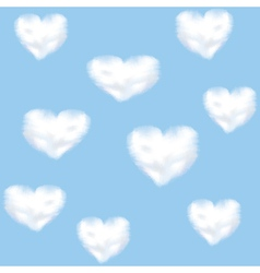 clounds shaped heart vector image