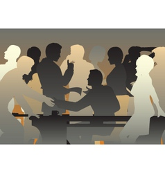 Crowded office vector image vector image
