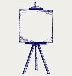 Easel with empty canvas vector image vector image