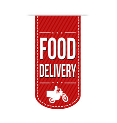 food delivery banner design vector image vector image