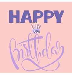 Happy birthday card with cake and candles vector image vector image