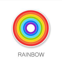 rainbow logo vector image vector image